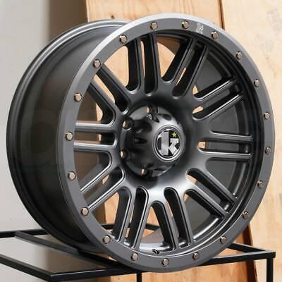 17x9 COW KT01 6x139.7/6x5.5 0 Gunmetal Wheels Rims Set(4)