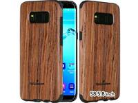 Samsung Galaxy S8 Case[Real Wood over rubber