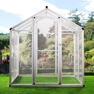 Heavy Duty Bird Cage Parrot Walk In Aviary Play Top LARGE Pet House White - BRAND NEW - FREE SHIPPING