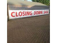 'Closing Down' Banner