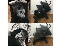 Ladybird Double Pram / Pushchair