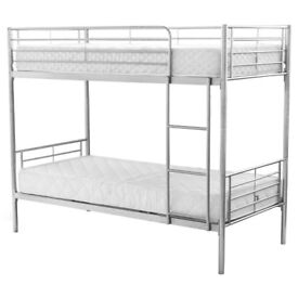 SAME DAY DELIVERY-- BRAND NEW Single Metal Bunk Bed with Mattress - SAME/NEXT DAY DELIVERY!