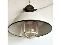 Industrial white Factory Cow Shed Hungarian Pendant Large Lamp Lighting Kitchen