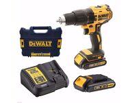Dewalt DCD795S22 Cordless Drill 18v LiIon Impact Drill Driver Brushless DCD795S2 BNIN & 2 Batteries