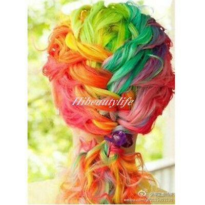 Neon Clip In Long Fake Synthetic Hair Extensions 20