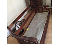 Wood sofa suite + free coffee table & other stuff