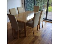Marks & Spencer Lichfield Solid Oak Dining Table and 6 Chairs