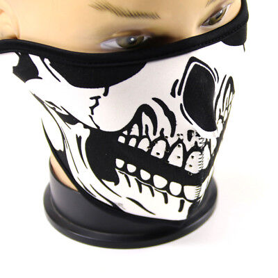 Skeleton Riding Mask (Half Face Neck Mask Skeleton Skull Ski Snowboard Motorcycle Riding Outdoor)