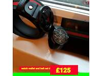 gucci watch belt and wallet set new stunning bargain