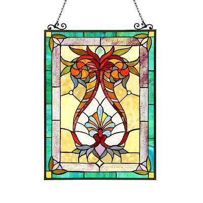 Stained Glass Chloe Lighting Victorian Window Panel CH3P804RF25-GPN 17.5 X 25""