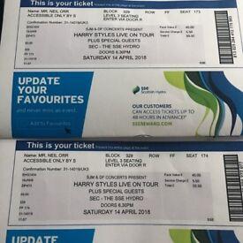 2 HARRY STYLES TICKETS GLASGOW APRIL 14th !! URGENT✨