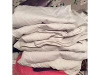 Bundle of white shirts