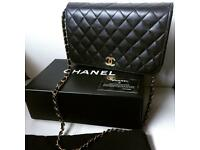 Authentic black lambskin Chanel Handbag perfect gift