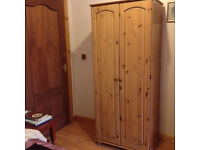 Single pine wardrobe for sale