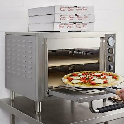 Avantco Stainless Steel Double Deck Electric Countertop Pizza Oven - 3200w 240v
