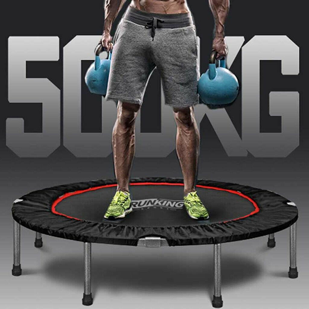 48in Foldable Mini Fitness Trampoline Rebounder Exercise Wor