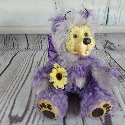 Robert Raikes Purple Fairy Butterfly Bear Paulina Numbered 266/750 No box mohair