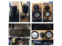 Monitor audio rx silver speakers