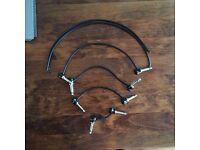 Bundle lot of 4x George L .115 guitar patch cables - 8x plugs + 80cm spare cable