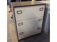 Triumph 3 Drawer Brown & Cream Filing Cabinet