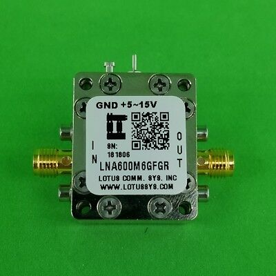 Broadband Low Noise Amplifier With Ldo 0.9db Nf 600m6ghz 21db Flat Gain Sma