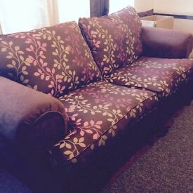 Lovely large sofa and pouffe