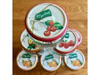 14 Jam/Preserve Jars with Lids