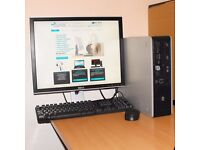 HP Compaq Windows 10 PC Core 2 Duo Desktop Computer Tower 2GB RAM 160GB HDD Microsoft Office
