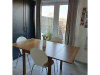 Oak Dining table and 4 chsirs