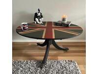 Hand painted Union Jack Tilt up table