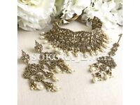 Pakistani Indian Bridal Antique Choker Set
