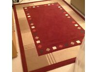 RUGS Large and Medium matched Red/Cream can be sold as a pair or separate