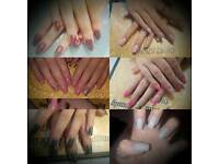 Nail extentions with gel polish