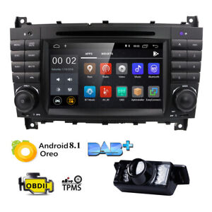android 8 1 car gps navigation dvd radio wifi for mercedes benz w203 clk  class w