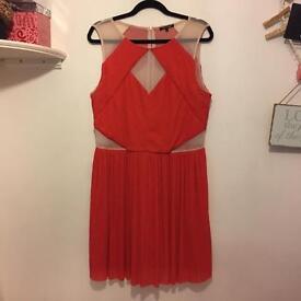 Tan & orange dress