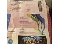 Justin beiber ticket for sale