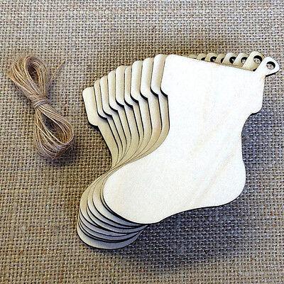 d Weihnachten Holz Ausschnitte Hängen Socken (Weihnachten Ausschnitte)