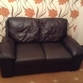 2 seater leather settee
