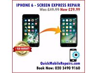 Quick Apple iPhone Repairs - Screen FIX All models 7, 7 Plus +, 6, 6s, 5G, 5s, 5C, SE Ilford, London