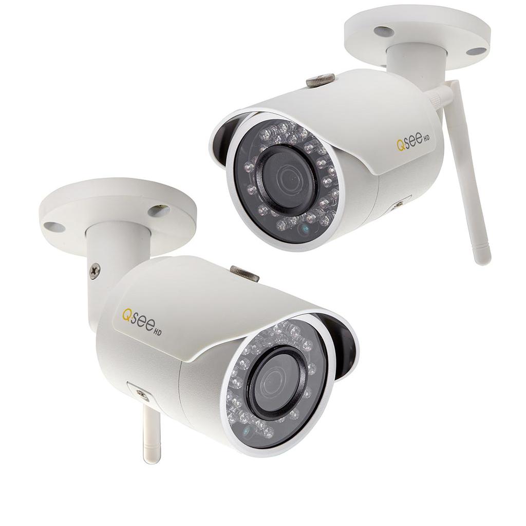 New Q-See 3MP Wi-Fi Bullet Wireless Weatherproof Camera 2 pk