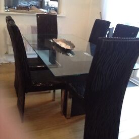 DESIGNER DINING TABLE AND 6 Chairs Cost 1800 Sell For 250