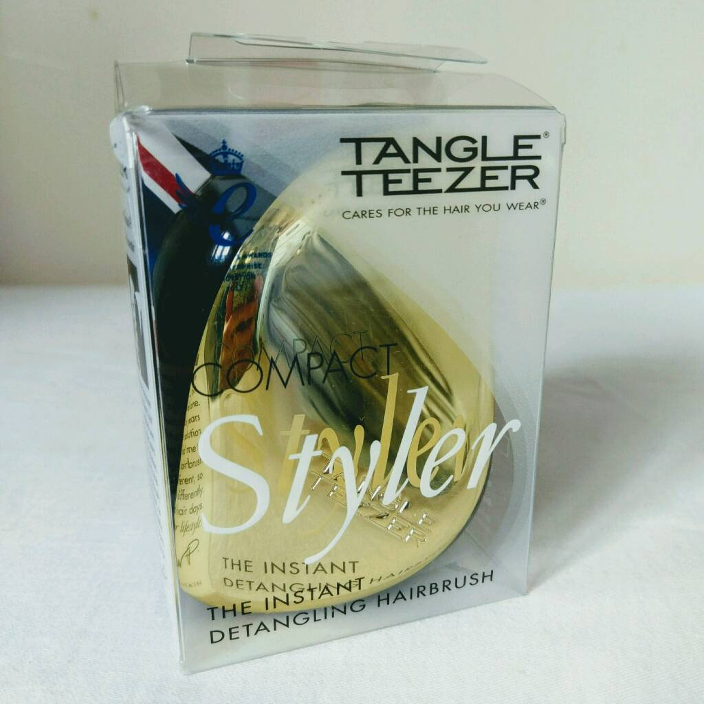 TANGLE TEEZER 'GOLD RUSH' COMPACT HAIRBRUSH (NEW)