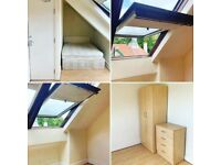 LOFT BEDROOM AVAILABLE IN HOUSE SHARE. NEWCASTLE UPON TYNE. NO DEPOSITS