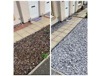 Gardener handyman leaves cleaner painter