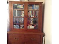 Antique Oak Bookcase Bureau