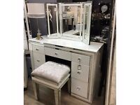 Manhattan White Mirrored Dressing Table