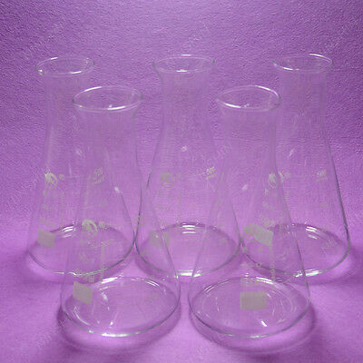 500ml Conical Flaskerlenmeyer Flaskwith Wide Mouth5pcslotlab Glassware