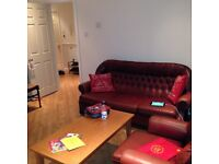 Chesterfield 3x seater Sofa and 2x Armchairs