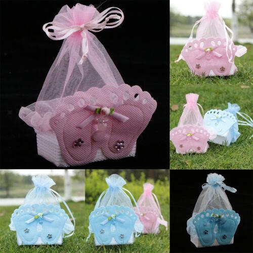 12 Pieces Baby Footprint Gift Box Girl Boy Baby Shower Birth