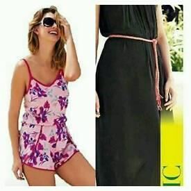 Lipsy Playsuit & Black Maxi Dress NEW